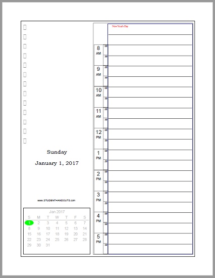 Free Printable Bullet Journal Daily Planner Scroll Down