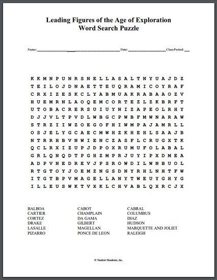 Age of exploration quiz pdf to word