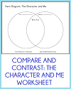 Compare and Contrast the Character and Me Worksheet
