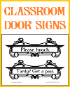 Classroom Door Signs for Visitors and Tardy Kids