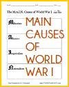 M.A.I.N. Causes of World War I Worksheet