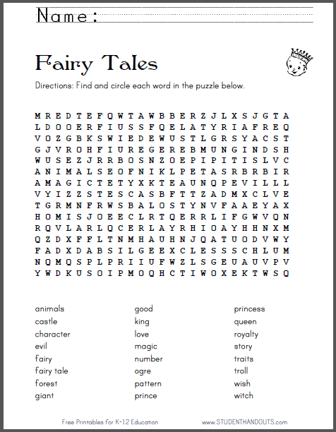 click here to print this word search puzzle worksheet featuring 24 words associated with fairy. Black Bedroom Furniture Sets. Home Design Ideas
