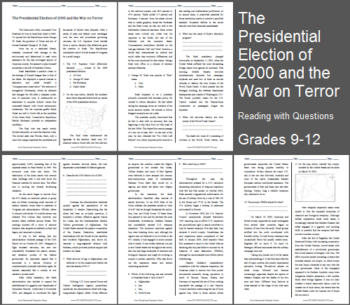 a review of the 2000 presidential election Find 2000 presidential election lesson plans and teaching resources quickly find that inspire student learning.