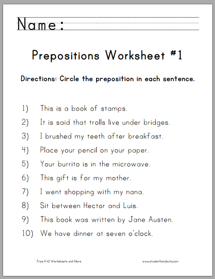 Click here to print. For more of our free worksheets similar to this ...