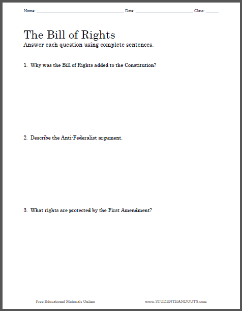 bill of rights essay questions student handouts bill of rights essay questions to print pdf file