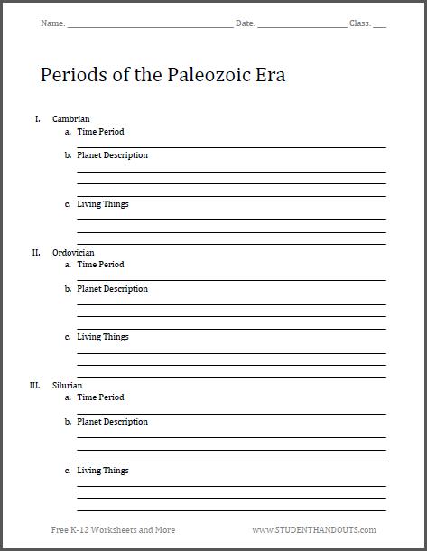 Free Printable Worksheet - Scroll Down to Print (PDF ...