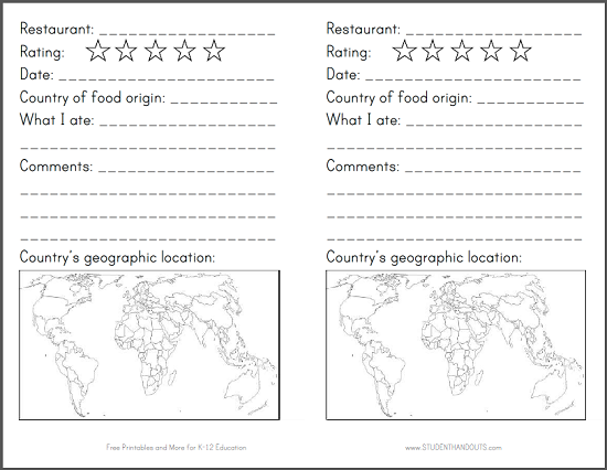 Restaurant Passport for Kids – Free Passport Template for Kids