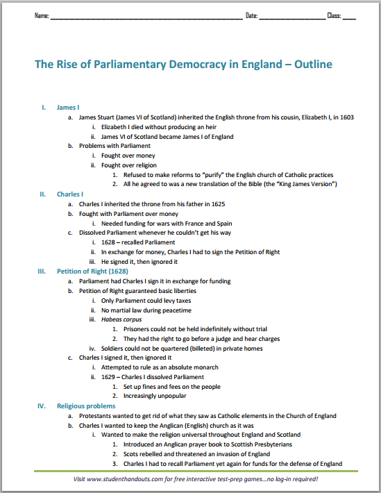 Democracy essay outlines