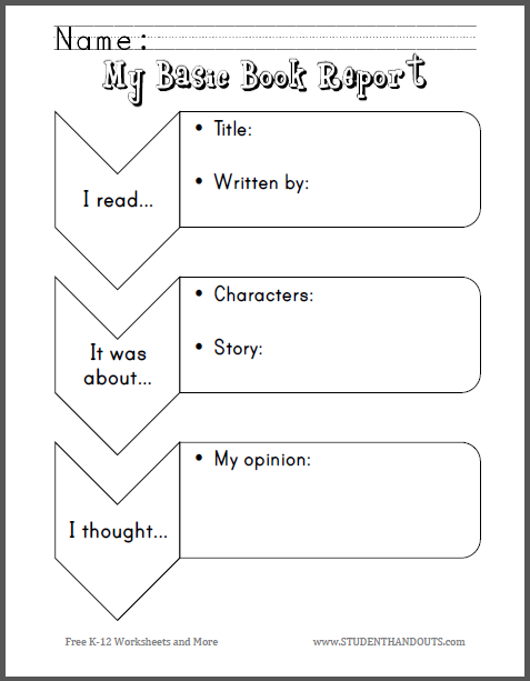 my basic book report primary